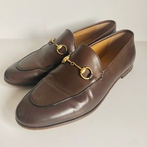 GUCCI | AUTHENTIC TAN LEATHER HORSEBIT LOAFERS